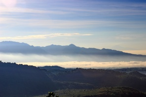 gunung sawal pagi hari