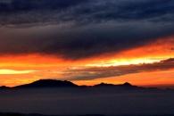 sunrise behind gunung swal