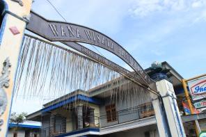 Pertigaan pesanggrahan pintu masuk wisata Panderman