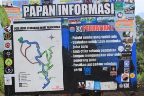 papan informasi gunung panderman bukan bhutak ya